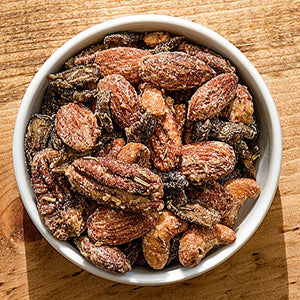 BobbySue's Nuts - Nuts Over Olives Style - All Natural Gourmet Nut Mix of Almonds, Cashews, Pecans (8 Ounce)