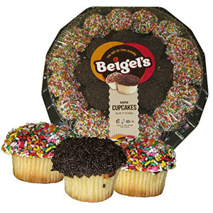 Beigel's Mini Cupcakes - Tray of 24 Cupcakes