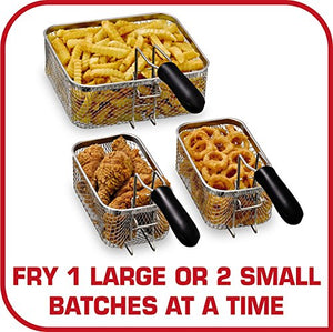 Triple Basket Deep Fryer, Stainless Steel