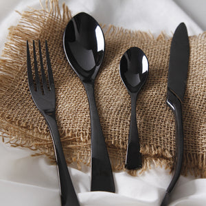4Pcs/ Black Stainless Steel Cutlery Set