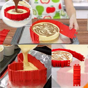 New Arrival Adjustable Silicon Circle Mousse Ring Baking Tool Set Cake Mould Mold Adjustable Bread Bakeware Cooking Accessories