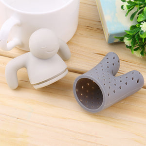 Unique Cute Tea Strainer Silicone Mr. Teapot Little Man Shaped Tea Infuser Teapot Filter for Tea & Coffee Drinkware Gifts