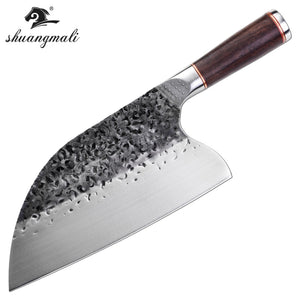 Butcher Knife stainless 5CR15MOV Steel  Chop  Chinese Cleaver  Kitchen Knife Chef Cooking Tools with Wooden handle