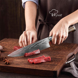 Damascus Knives DV8 67 Layer Chef Knife Japanese Kitchen Knife Damascus Stainless Steel Knives Ultra Sharp Micarta Handle