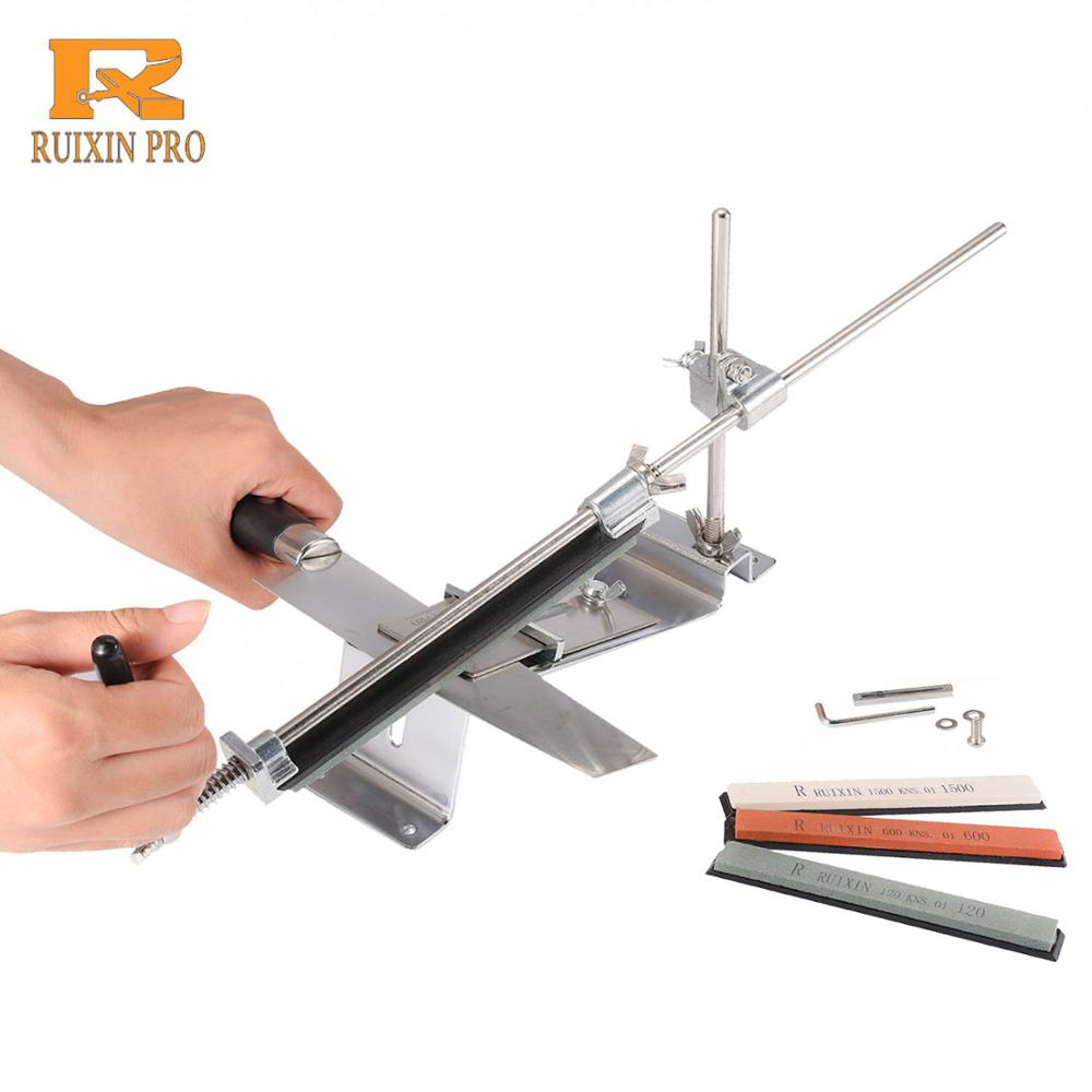 Ruixin Pro professional kitchen knife sharpener iron steel fixed angle with stones