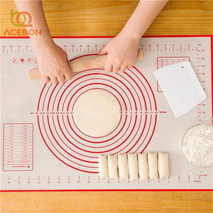 1pcs Non-Stick Silicone Baking Mats Fibreglass Liners Pad Rolling Dough Cutting Pizza Dough Fondant Cake Pastry Tools by ACEBON