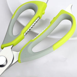 Multi-Function Kitchen Scissors Cutter Knife Board Stainless Steel Kitchen Vegetable Knives Meat Potato Cheese Meat Cut