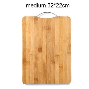 Wooden Chopping Blocks Tool Bamboo Rectangle Hangable Cutting Board Durable Non-slip Kitchen Accessories Chopping Board 1pcs