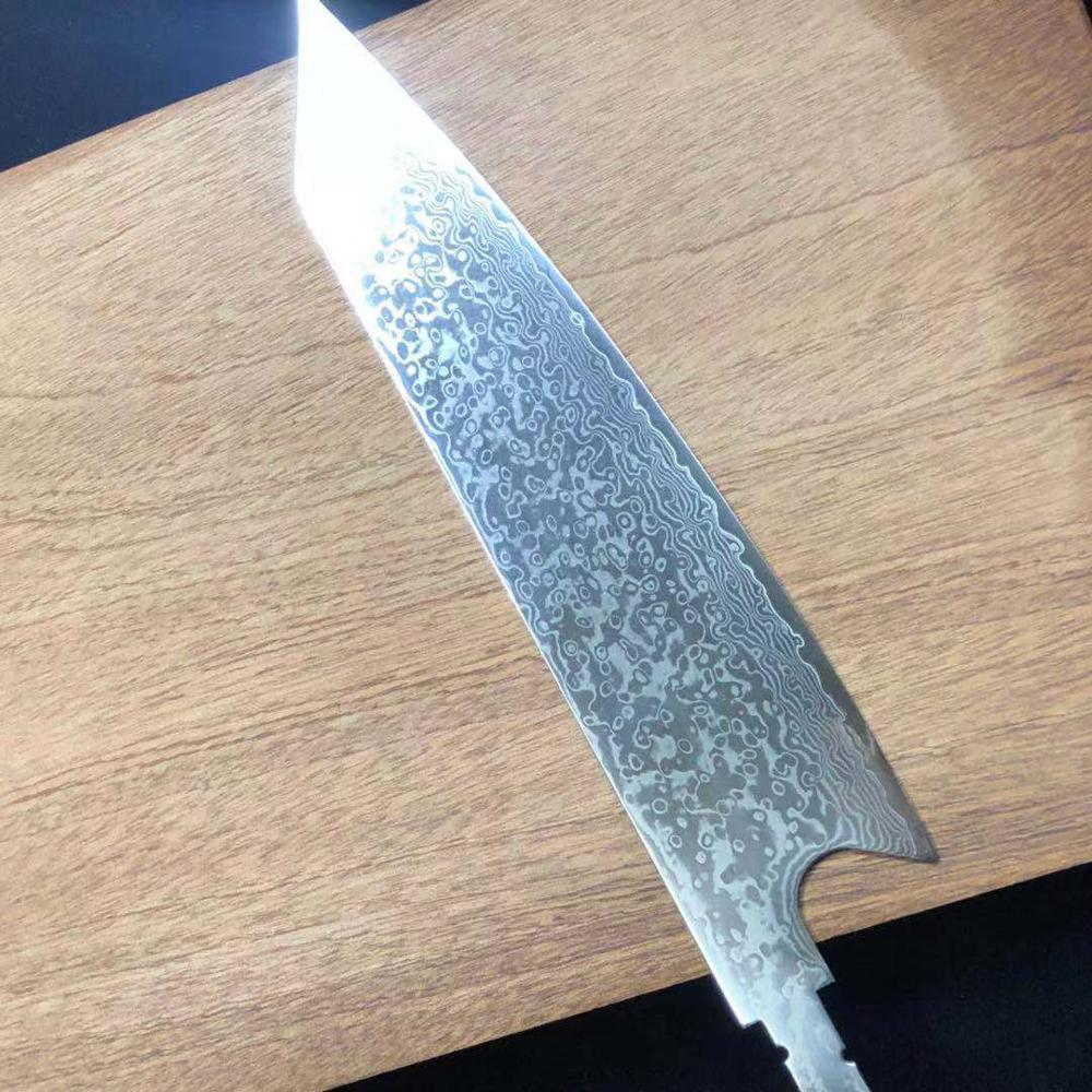 Sharp DIY chef knife blank vg10 Damascus steel blade material semi-finished billet Japanese knife kitchen cooking to ol