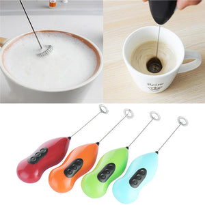 Coffee Milk Frother Foamer Egg Electric Beater Whisk Cooking Tools Mini Stirrer Egg Rotatable Mixer Kitchen Egg Tool