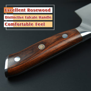 Japanese 67 layers Damascus Steel Chef Knife Rose wood handle