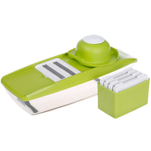 Adjustable Mandoline Slicer with 4 Interchangeable Stainless Steel Blades