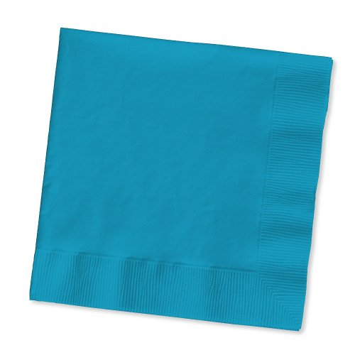 2-Ply 50 Count Paper Lunch Napkins, Turquoise - Diamond Events and Catering