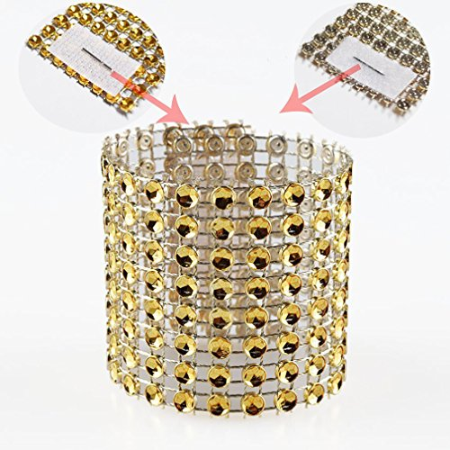 Napkin Rings Rhinestone Napkin Rings Adornment For Wedding Party (50 PCS, Gold) - Diamond Events and Catering