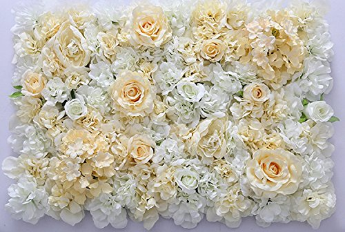 40X60cm Artificial Silk Rose Flower Wall Decoration Decorative Silk Hydrangea Wedding Decoration - Diamond Events and Catering