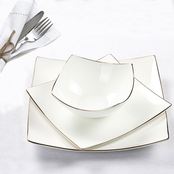 European Style Porcelain Dinnerware - Diamond Events and Catering