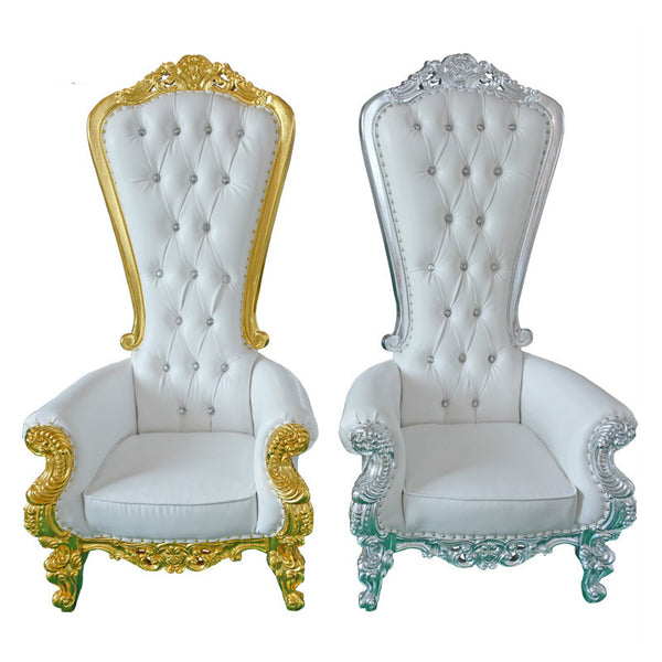 European High Back King Throne Wedding Chairs - Diamond Events and Catering