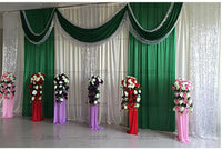 Special Offer Sequin Wedding Backdrop Curtain With Swag Backdrop/ Wedding Decoration Romantic Ice Silk Stage Curtain