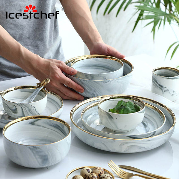 Marble Ceramic Tableware - Diamond Events and Catering