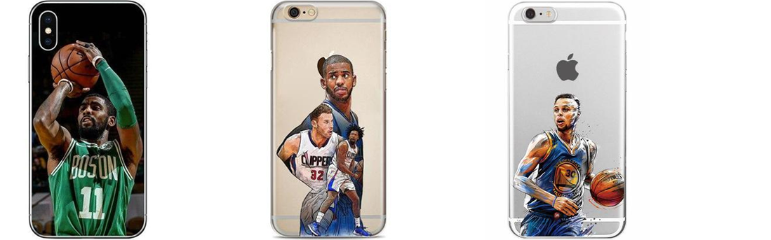 Coques pour iPhone 5, 6, 7, 8 et X de Kyrie Irving, Chris Paul et Stephen Curry