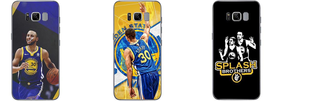 Coques Stephen Curry pour Samsung Galaxy S6, S6 Edge, S7, S7 Edge, S8, S8+, S9, J5, J7, A3 2017, A5 2017, A5 2018, A8 2018, A8+ 2018 et Note 8