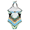 One Piece Swimsuit Women Vintage Retro Swimwear