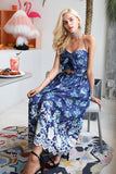 Bohemian Vintage print beach summer dress women