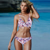 Women's Bandeau Rose Floral Beach Wear Swimwear