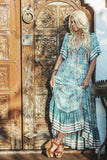 Boho Maxi Dresses Ruffled Hem Casual Beach