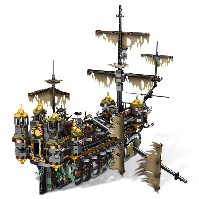Pirate Ship Sank Model Building Blocks Assembled Splicing Toys Movie Series