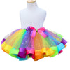 Rainbow Tutu Skirt Baby Girls Toddler Party Outfit Skirt