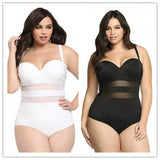 Hot Plus Size Bikini Sexy Mesh One Piece Swimsuit