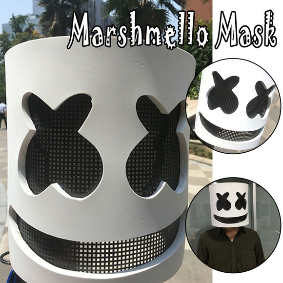 Marshmello Mask Cosplay LED Helmet