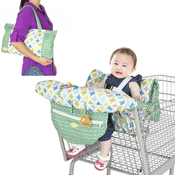 Fordable Baby Kids Shopping Cart Cushion Kids Trolle