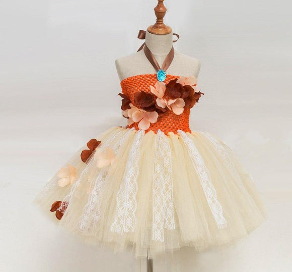 Princess Moana Tutu Dress Costume For Girls Birthday Party