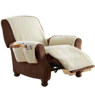 Comfort Chair Seat Cover Snuggle Up Polyfleece Recliner Cover Natural