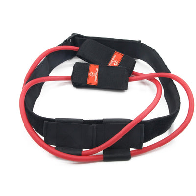 Adjustable waist belt fitness training