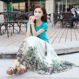 Bohemian Skirts  Chiffon Summer  Vintage Fashion Flower Ethnic Boho
