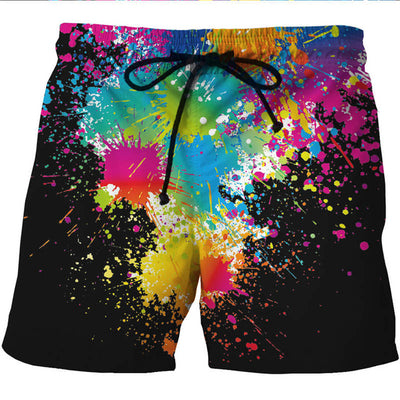 Shorts Water Sport Summer Man's Beach  Pant Paint Print