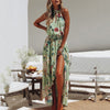 Boho Beach Dress Casual Fashion  Summer Floral Long Maxi Dress