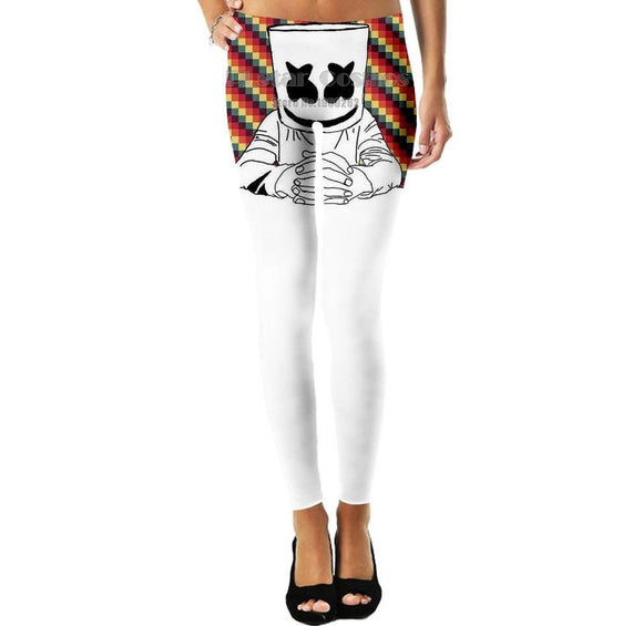 Marshmello Leggings Pants Plus size S-5XL