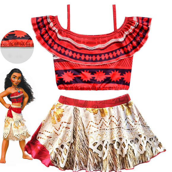 Moana  Princess Dress Kids Swim Clothing