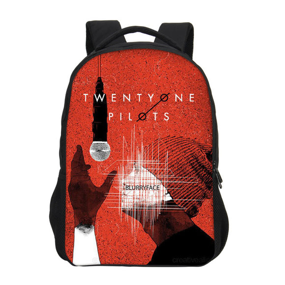 Twenty one Pilots Backpack School Bags