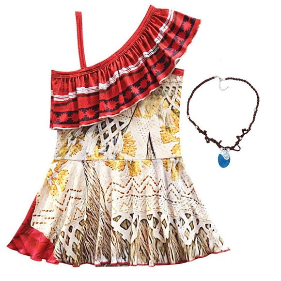 Moana Dress +  Necklace