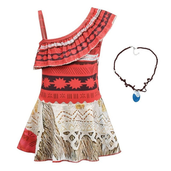 Moana Dress Costume+ Necklace