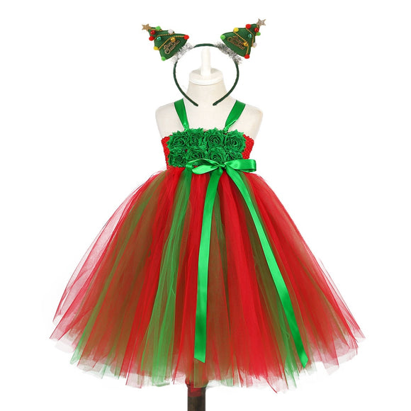 Christmas CostumeTutu Dress with Hairbands