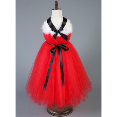 Christmas Halter Girl Tutu Dress
