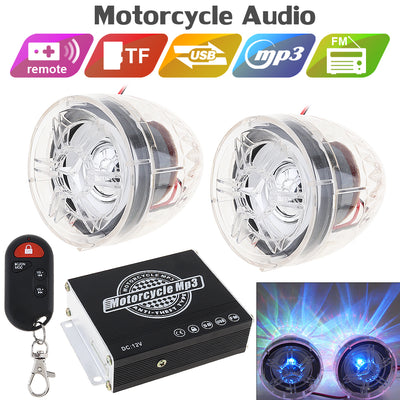 Anti-theft Sound Motorcycle MP3  & Radio music for