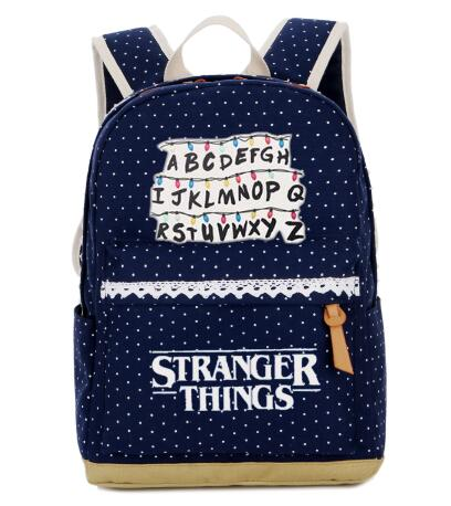 Stranger Things backpack Wave point student School