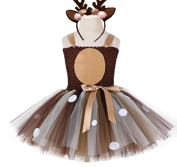 Christmas Deer Tutu Dress